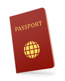 Passport isolated on white Stock Images