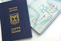 Passport of  Israel citizen. On white background Royalty Free Stock Photo