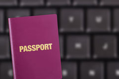 Passport on Keyboard Royalty Free Stock Images
