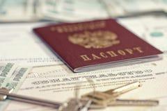 Passport, Keys And Documents Royalty Free Stock Photo