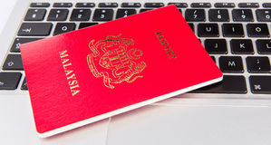Passport And Laptop II Stock Images