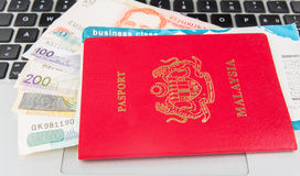 Passport And Laptop VII Stock Images