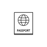Passport line icon, travel tourism citizen and id. Passport line icon, travel tourism, citizen and id, a linear pattern on a white background, eps 10 Royalty Free Stock Photography