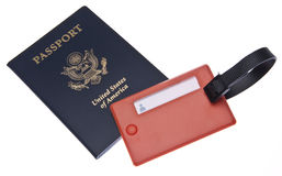 Passport with Luggage Tag Royalty Free Stock Photography