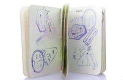 Passport with many visas Royalty Free Stock Photo