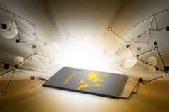 Passport with map and papers Royalty Free Stock Photos