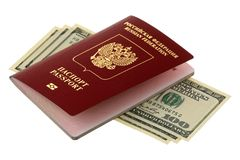 Passport and money Stock Photos