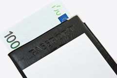 Passport. Money. Royalty Free Stock Photos
