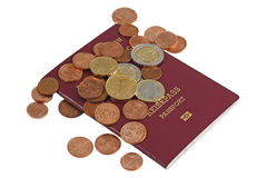 Passport and money Stock Images