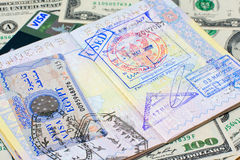 Passport and money Royalty Free Stock Photo