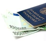 Passport and money Royalty Free Stock Image