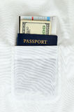 Passport, money and boarding pass Royalty Free Stock Photos