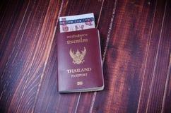 Passport with money Royalty Free Stock Photos
