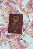 Passport on money Royalty Free Stock Photos