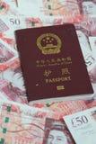 Passport on money Royalty Free Stock Images