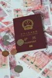 Passport on money Royalty Free Stock Image