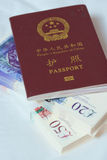 Passport on money Royalty Free Stock Photography