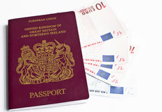 Passport and money Stock Photography