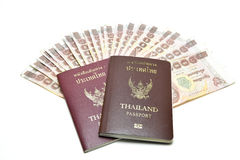 Passport and money Royalty Free Stock Images
