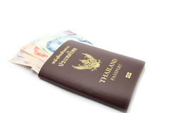 Passport with money Royalty Free Stock Images