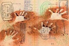 Passport over Australia scenic destination Royalty Free Stock Photo