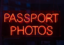 Passport Photo Sign Royalty Free Stock Image