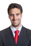 Passport picture of a hispanic businessman with suit Royalty Free Stock Image