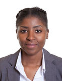 Passport picture of a smiling african businesswoman Royalty Free Stock Photography