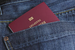 Passport in a pocket Royalty Free Stock Photo