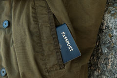 Passport in pocket Royalty Free Stock Photography