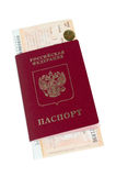 Passport and railway ticket Stock Image