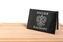 Passport Russia on a cutting board Royalty Free Stock Photo