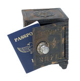 Passport in a Safe Royalty Free Stock Image