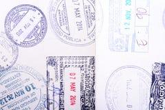 Passport Seals Royalty Free Stock Photography