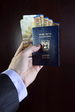 Passport and Sheqalym Royalty Free Stock Image