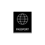 Passport solid icon, travel tourism citizen and id. Passport solid icon, travel tourism, citizen and id, a filled pattern on a white background, eps 10 Stock Photos
