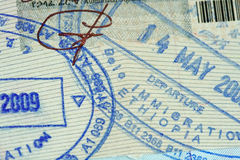 Passport Stamp Royalty Free Stock Images