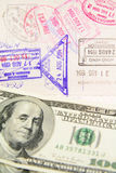 Passport with stamp Stock Photography