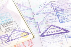 Passport stamp Stock Photography