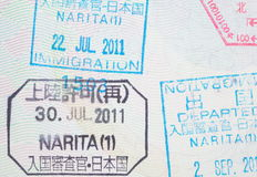 Passport stamp Stock Image