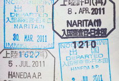 Passport stamp Stock Photo
