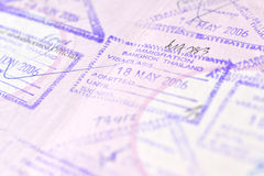 Passport stamp background - Bangkok, Thailand Stock Photography
