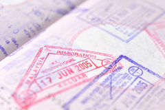 Passport stamp background - KL Malaysia Stock Photo