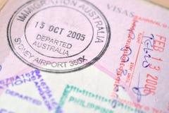 Passport stamp background Stock Photo