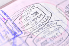 Passport stamp background Royalty Free Stock Photos