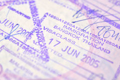Passport stamp background. (Selective focus royalty free stock photography