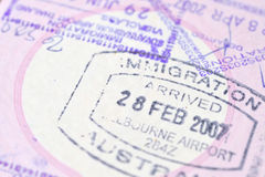 Passport stamp background Royalty Free Stock Images