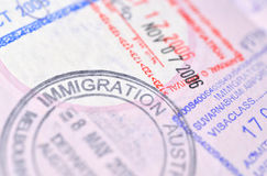 Passport stamp background Royalty Free Stock Photography