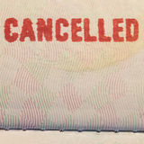 Passport Stamp Cancelled. With detail Royalty Free Stock Photos
