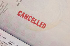 Passport Stamp Cancelled Royalty Free Stock Images